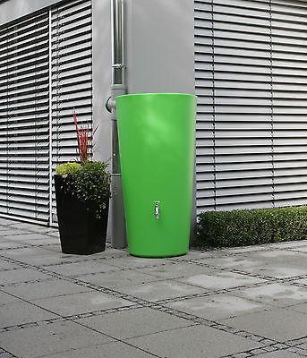 Elegant modern rainwater harvesting rainbowl water butt 210 litre, including tap and diverter